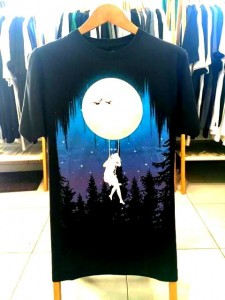 T-shirt męski MOON SWING